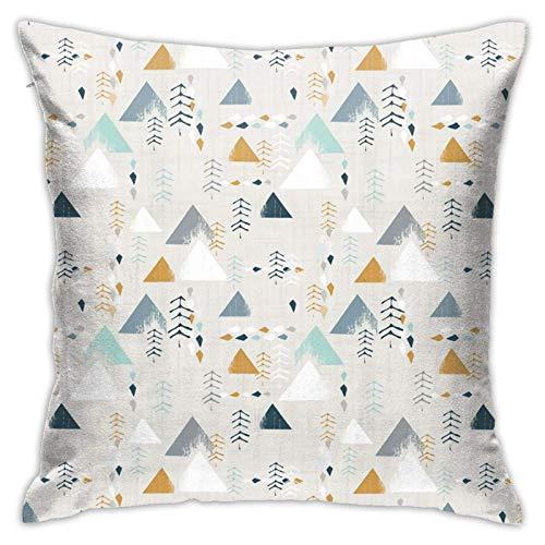 pingshang Funda de almohada, diseño de aventura Mouin, funda de cojín moderna, cuadrada, decoración de columas, para sofá, cama, silla, coche, 45,7 x 45,7 cm