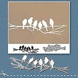 Mothcattl - Fustella in metallo con sei uccellini per realizzare biglietti, scrapbooking, album di ritagli, biglietti di carta, accessori fai da te