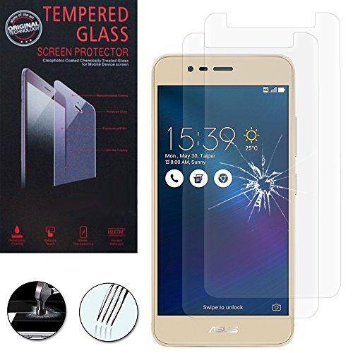 VComp-Shop® 2x Hochwertige gehärtete Panzerglasfolie für Asus Zenfone 3 Max ZC520TL 5.2