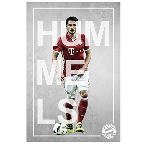 FC Bayern München affiche/poster/spelerposter Mats Hummels 61 x 91 cm FCB plus sticker gratis sticker voor München