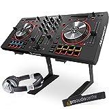 Numark Mixtrack Pro 3 Digitaler USB-DJ-Controller mit Laptop-Ständer und Kopfhörern