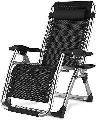 Silla de escritorio de oficina resistente de gravedad cero reclinable, sillas reclinables, ajustables, para jardín, exterior, patio, terraza, silla (color: A)