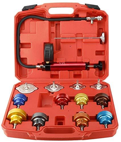 FreeTec Kühlsystemtester Kühlerabdrückgerät Kühler Druck Prüfung Abdrückgerät Kühlsystem Tester (14TLG)
