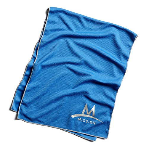 Mission Tech Knit Towel Toalla, Hombre, Azul, OSFM