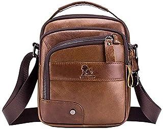 Mens Cowhide Bag Genuine Leather Shoulder Bag for Men Handbag Messenger Crossbody Bags