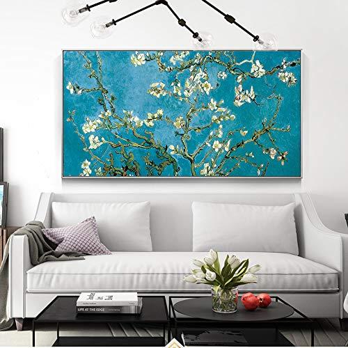 Karen Max Gran tamaño Almendro en Flor Flores pintadas reproducciones Sobre EL Muro de Van Gogh Impressionist Wall Art imágenes Sobre Lienzo para salón