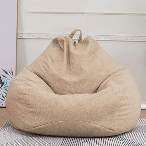 WGYDREAM Sitzsack Kindersitzsack Sofa faul Lounger High Back Großer Sitzsack Lagerung Stuhl mit Inner Liner Bean Bag (Color : Khaki, Size : 60 * 70cm)