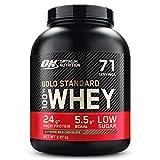 Optimum Nutrition Gold Standard 100% Whey Protéine en Poudre avec Whey Isolate, Proteines Musculation Prise de Masse, Chocolat au Lait, 71 Portions, 2.27kg, l'Emballage Peut Varier