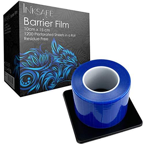 Inksafe - Rollo de película protectora para barrera adhesiva, 10 cm x 15 cm, 1200 hojas/rollo - médico, dental, tatuaje, belleza