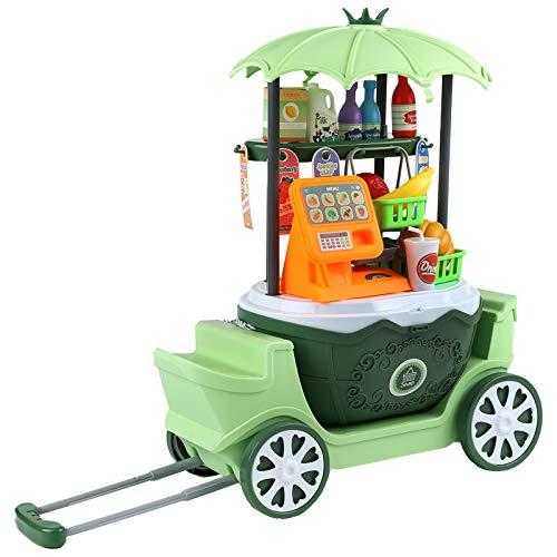 Erlsig Registratore Di Cassa Per Bambini, Negozi e Accessori, Giochi D'imitazione ,negozio di Alimentari Finta Di Giocare Supermercato, Shopping