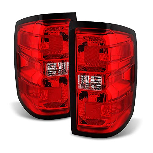 ACANII - For 2014-2018 Chevy Silverado 1500 Factory Style Tail Lights Brake Lamps Left+Right