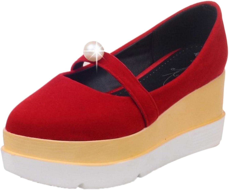 FANIMILA Women Flatform Heels Pumps shoes