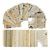 50 feuilles de papier de scrapbooking vintage,scrapbooking papier,scrapbooking,DIY Album Photo Décoration pour Journal Artisanat Scrapbooking,papier décoratif ancien,autocollant vintage. (A)
