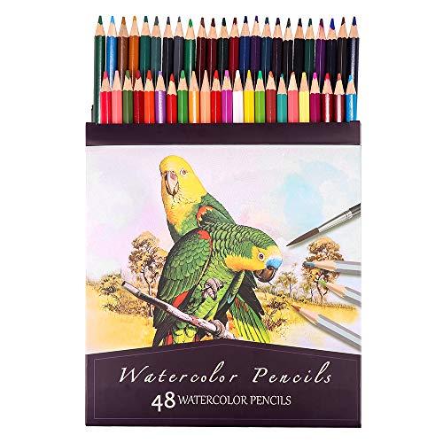 ZONJIE Matite Colorate Acquerellabili da Disegno, 48 Matite Colorate Professionali, Astuccio di Pastelli Colorati Professionali per Adulti e Bambini per disegni, sfumature e ombreggiature