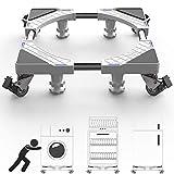 DEWEL Carrello per Lavatrice con Ruote 44.8-69 cm Supporti 200 kg