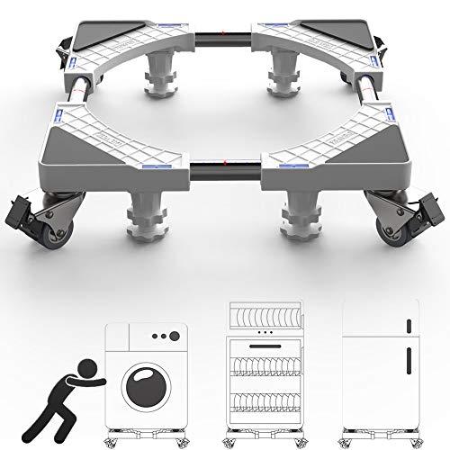 DEWEL Carrello per Lavatrice con Ruote 46-68 cm Supporti 300 kg
