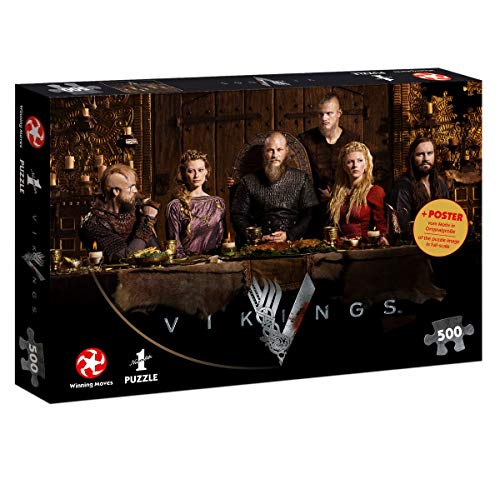 Winning Moves WIN11507 Number 1 Wikinger Teile Puzzle: Vikings Ragnar\'s Court, 500 pc, Mehrfarbig