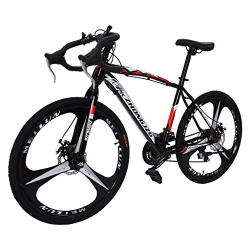 Road Bicycle, 21 Speed Racing Bike Bicycle, Full Suspension Outdoors Cycling Road Bike, Disc Brakes, 26 in Durable Bike, 700c Commuter Racing Bikes Bicycle for Men and Women, for Father Day