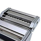 axentia Nudelmaschine in Silber, verchromter Pastamaker für Lasagneplatten, Spagetthi oder Bandnudeln, Pastamaschine manuell mit Kurbelantrieb, Pasta-Maschine für Hobbykoch oder Profi - 7