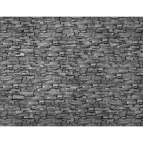 Fototapete Steinwand 3D Effekt Grau 396 x 280 cm Vlies Wand Tapete Wohnzimmer Schlafzimmer Büro Flur Dekoration Wandbilder XXL Moderne Wanddeko 100% MADE IN GERMANY Runa Tapeten 9086012c