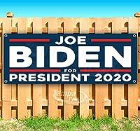 "Joe Biden President 2020 13オンス 高耐久ビニールバナーサイン 金属製グロメット付き 店舗 広告 旗 18"" x 48"""