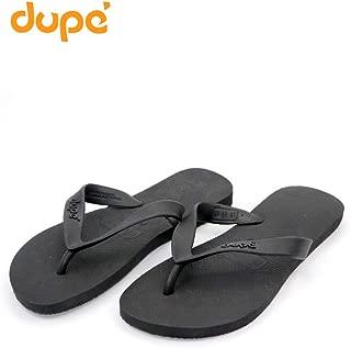 Dupe Black Flip Flop Thong Design Slipper for Mens