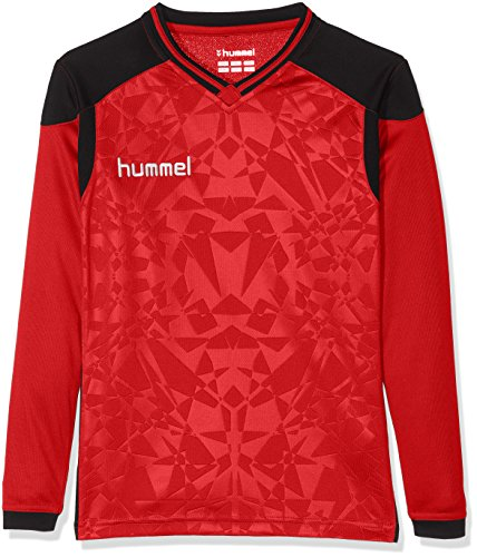Hummel Kinder Trikot Sirius Long Sleeve Jersey, True Red/Black, 116-128