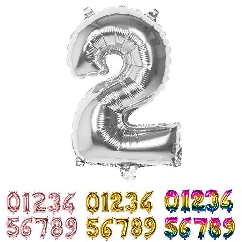 Boland Argent, Ballon, Ballon, Air, Anniversaire, Anniversaire, Année de vie, Surprise Anniversaire, Décoration Enfant