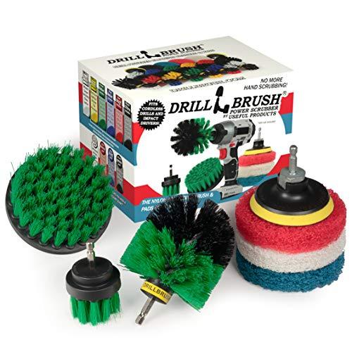 Suministros de Limpieza Drillbrush- Kit accesorio de fresadora- plataformas de perforación- limpieza de cocina, horno de carro, Power Cepillo- fregar -- Taladro sin cable Rotary cepillo del depurador