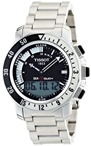 Tissot Men's T0264201105100 Sea Touch Quartz Chronograph Touch Screen Black Dial Watch Review and For Sale and review image