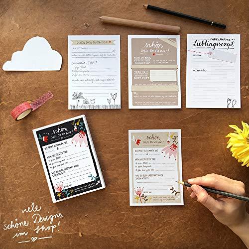 """Hochzeitsspiel """"Schön, dass du da bist""""   Postkartengruß - 3"""