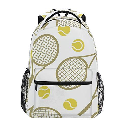 Rootti Mochila de dibujos animados divertidos, raqueta de tenis, senderismo, mochilas al aire libre, escuela, viajes, portátil, mochila para niños, adultos, niños y niñas