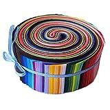 Tamkyo Tela de AlgodóN de Color SóLido Cinta Bolsa de Rollo de Tela 20X30Cm DIY Jalea Qui Cosida Patchwork 50 Piezas