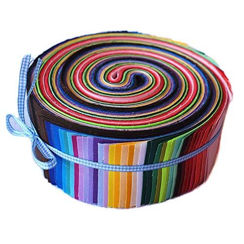 Adanse Einfache Farbe Pure Farbe Streifen Typ Baumwollstoff 20X30Cm Jelly Rolls Stoffbündel DIY Patchwork Quilten Stoff 50 Stücke
