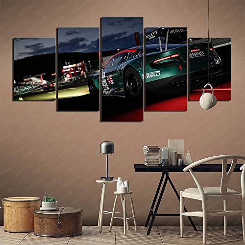 Art deco Forza Motorsport 6 Peak 5 pinturas de portafolio de arte Cuadros decorativos populares en Europa y América Con marco incorporado 100x50cm