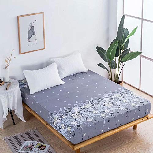 GTWOZNB Microfibre Flat Sheet - No-Iron Bed Sheet is Breathable,Soft Waterproof bedspread, dustproof and breathable-16_1.5 * 2m