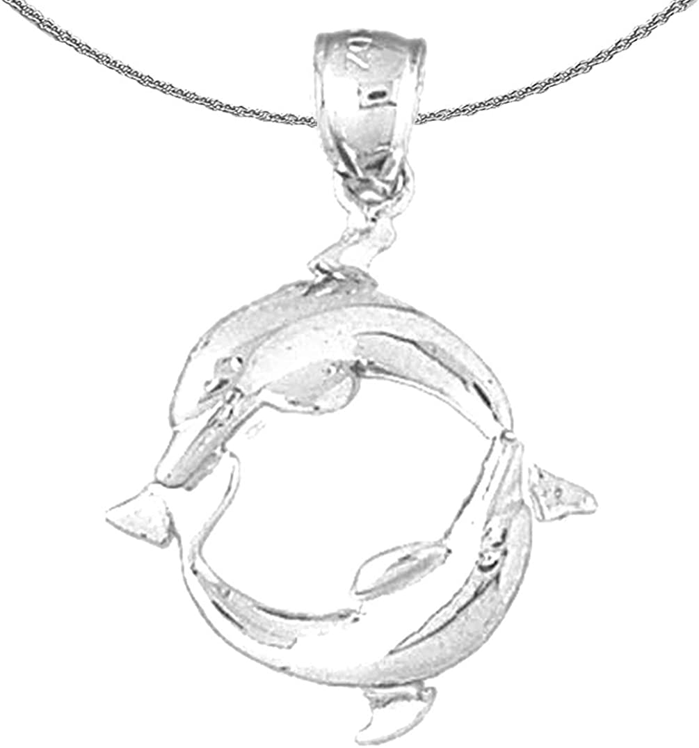 Super sale period limited Jewels Obsession Silver Dolphin Necklace Rhodium-plated 925 Si Max 79% OFF