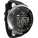 MOLINB Reloj Inteligente Reloj Deportivo Bluetooth Impermeable Hombre Reloj Inteligente Digital Soporte de Espera ultralargo Recordatorio de Llamada y SMS SmartWatch, Negro