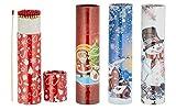jameitop® 2 x 75er Rund-Packungen XXL Weihnachten Kaminstreichhölzer, 20cm Schneemann/Nikolaus Motive