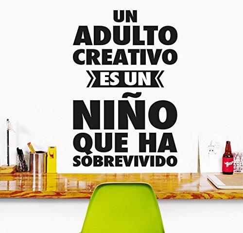 MYVINILO - Vinilo Decorativo - Un Adulto Creativo/Negro (33x50 cm)