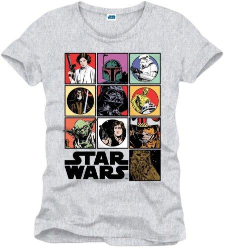 La Guerra de las Galaxias Icons Camiseta Gris/Melé XL