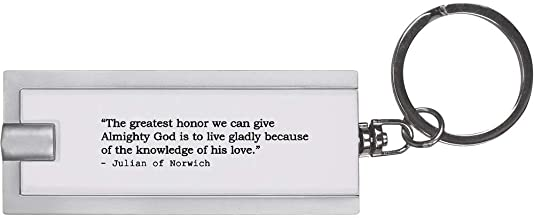 Quote by Julian of Norwich Keyring LED Torch (KT00006523)