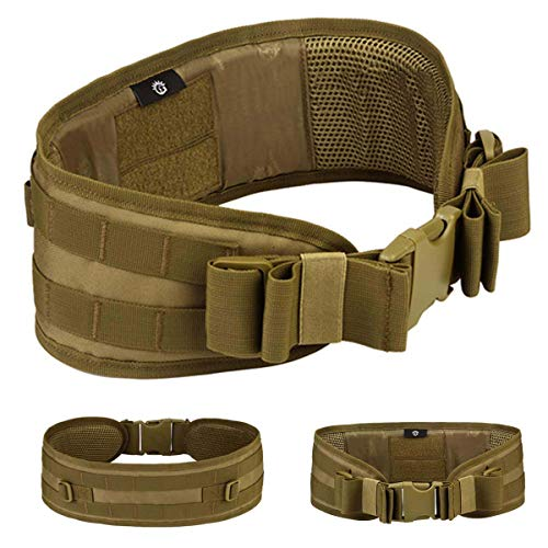 Selighting MOLLE Tactical Belts Padded Airsoft Combat Battle Belts Heavy Duty Police Utility Belt...