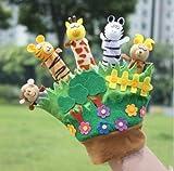 Baby-Spielzeug Kleinkind Zoo Spielen Geschenk Tier Story Telling Fingerpuppen Handschuh New