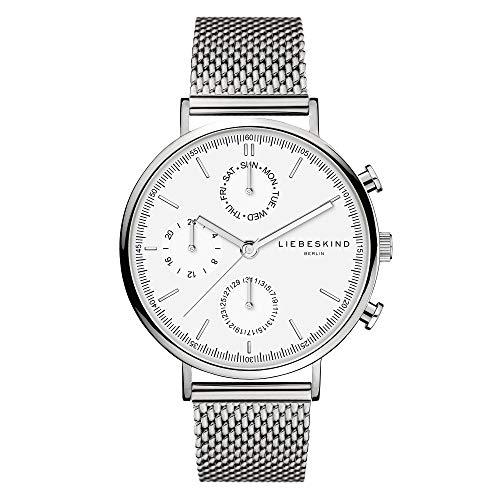 Liebeskind Berlin Damen Multi Zifferblatt Quarz Uhr mit Edelstahl Armband LT-0191-MM