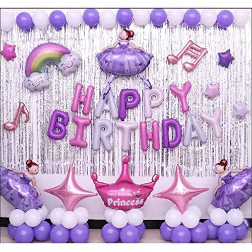 Sale!! LAOHAO Children's Birthday Dress Princess Theme Party Arrangement Decoration Girl Birthday An...