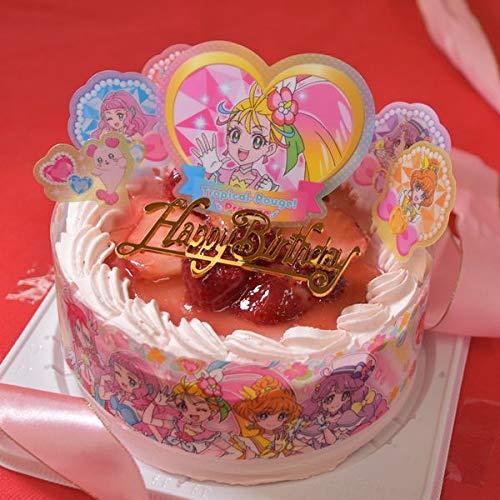 トロピカル〜ジュ!プリキュア 2021 バンダイ ピンク色の生クリーム苺2段サンドケーキ/紙風船プレゼント