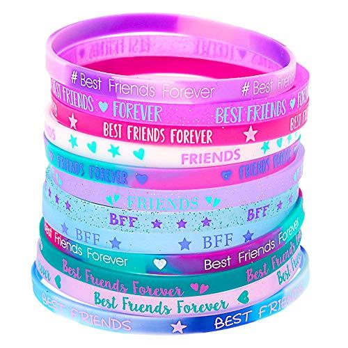 Claire's Matching Rubber Best Friends Friendship Bracelets,...
