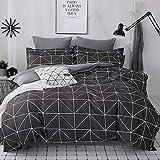 JZCXKJ Satin Bedding Set Comforter Bedding Set Duvet Cover Bed Sheet Pillow Quilt Cover Single/Double/Queen Size Quilted 100% Cotton 220X240 1