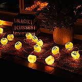 KPCB Halloween Lichterkette, Halloween Kürbis Deko Lichterkette, Kürbis Lichterkette für Halloween, 5.4m 40 LEDs Kürbis Lichter Batteriebetrieben für Halloween Party Hause Garten - 7